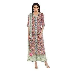 Pinkshink Pure Cotton Pink Salwar Kameez Dress Material 109