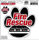 Animal Fire Rescue Paw Inside Static Cling