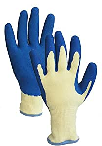 Tool grips garden gloves blue small patio for Gardening gloves amazon