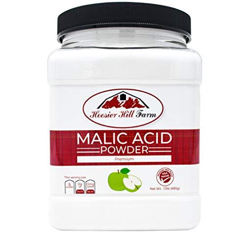 Hoosier Hill Farm Food Grade Malic acid, 1.5 lb Plastic Jar