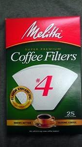 Melitta Coffee Filters No. 4 Cone Paper White