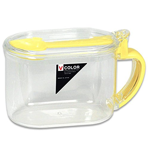 Japanese Clear Plastic Sugar Salt Tea Broth Mix Corn Starch Storage Container Canister w/ Spoon (Corn Starch Container compare prices)