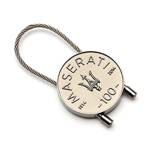 Authentic Maserati 100 Year Celebration Steel Key-Chain 920006000