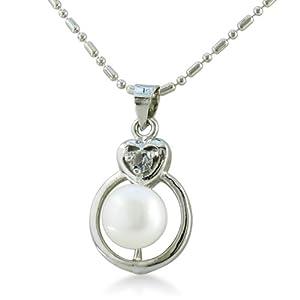 Swarovski Crystal And Freshwater Pearl Circle Pendant