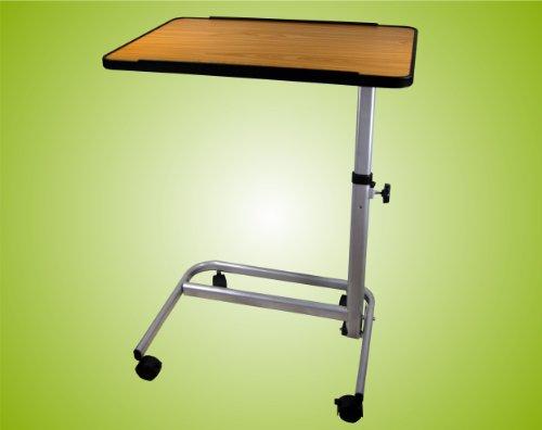 Beistelltisch-Beistellwagen-Krankentisch-Bett-Tisch-braun-fahrbar-Top-Qualitt