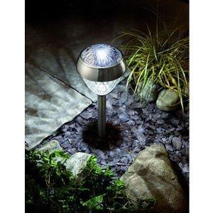 bright majestic solar garden light garden outdoors