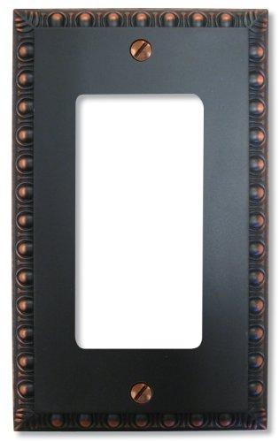 Amertac 90RVB  1 Rocker GFCI Renaissance Wallplate, Aged Bronze