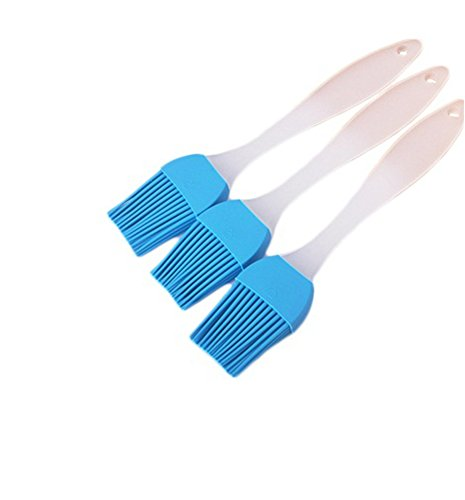 TGLOE Barbecue Brosse Thermostabilité Silice Gel Barbecue Brosse 3 Piece Condiment Pain Cuisson Aliments Brosse (Bleu)