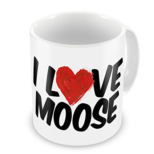 Coffee Mug I Love Moose - Neonblond