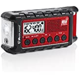Midland ER300 Emergency Solar Hand Crank AM FM Digital NOAA Weather Radio with Cree LED Flashlight and USB Charger Output