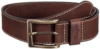 Wrangler Basic - Ceinture - Uni - Homme - Marron (Light Brown) - FR:90 cm (Taille fabricant: 90 cm)
