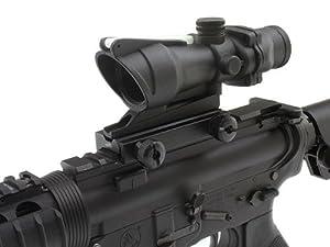 GDT Tactical Military Combat CQB Style 4x32 Scope True Fiber Optic Green Illuminated