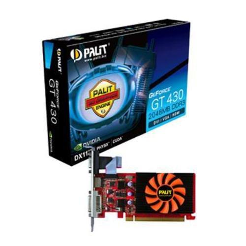 Palit XpertVision Geforce GT430 Grafikkarte (PCI-e, 2048MB DDR3 Speicher, Dual-DVI, HDMI)