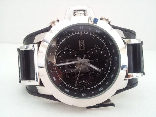 Mark Naimer MN2026 Men's Biker's Watch, Chronograph look - Black