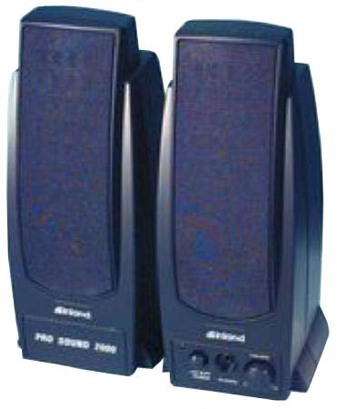 Inland Pro Sound 2000 Amplified Computer Speakers - Black Magnetically Shielded 7.2W Rms