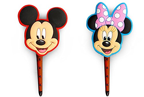 FinexSet of 2 Mickey & Minnie Mouse Refillable Car Vent Mounting Clip Air Fresheners - AC air freshener clips Cue Tropical Fine (Car Air Freshener Refillable compare prices)