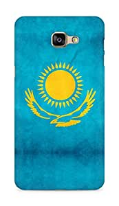 Amez designer printed 3d premium high quality back case cover for Samsung Galaxy A9 (Kazakhstan flag freedom)