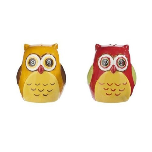 Ceramic Owls Salt and Pepper Shaker Set