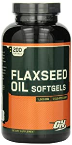 Optimum Nutrition Flaxseed Oil 1000mg, 200 Softgels