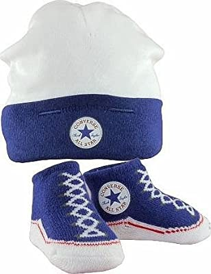 Converse Baby Hat and Faux Sneaker Style Bootie Set