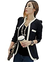 Zacoo Women's Rivets Cotton Blended Office Suits