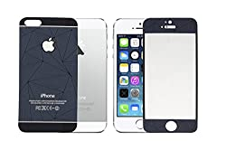 ShopAIS 3D Diamond Tempered Glass For Iphone 5/5s Blue - Front + Back Tempered Glass - We offer a Transperent Utra-Thin Back Cover worth Rs 199 Free with all orders