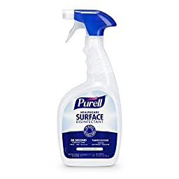 PURELL Healthcare Surface Disinfectant Spray 32 oz, Fragrance Free, RTU (Pack of 6)