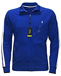 Polo Ralph Lauren Men\'s PERFORMANCE TRACK JACKET FULL ZIP BIG AND TALL PAC ROYAL (LT)