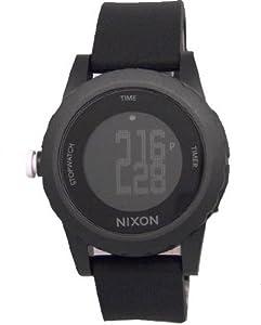 Unisex Watch Nixon A326-000 Genie Black Plastic Resin Case Digital Quartz Black