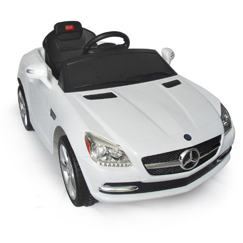 Mercedes-Benz SLK Kids 6v Electric Ride On Toy Car w/ Parent Remote Control - White