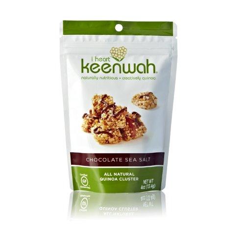 i heart keenwah Chocolate Quinoa Clusters, Sea Salt, 4 Ounce (Pack of 6)