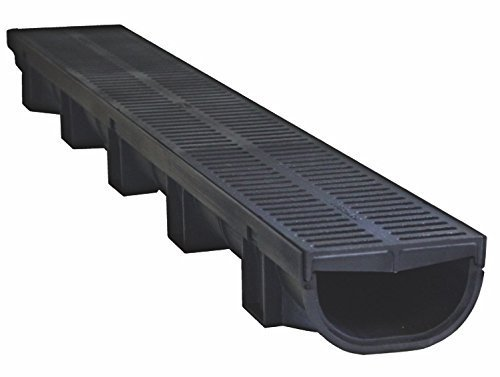 trench-drain-compact-black-polymer-with-black-polymer-heel-friendly-grate-333-ft