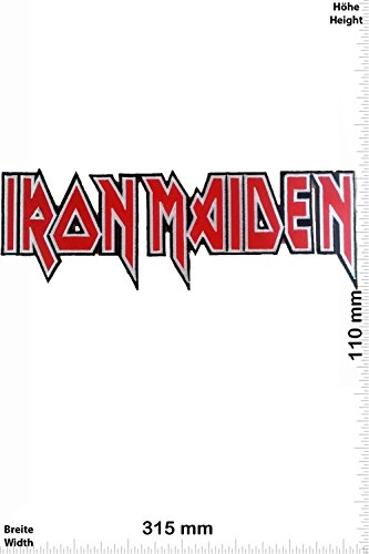Patch - IRON MAIDEN - 31 cm - BIG - BIGPATCH - Rocker - Biker - Chaleco - toppa - applicazione - Ricamato termo-adesivo - Give Away