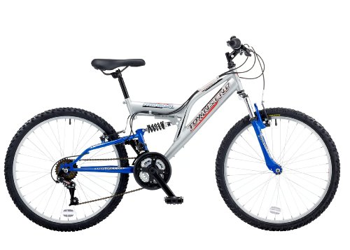 Townsend Mohawk 24 Boys Front Suspension Mountain Bike - 13 Inch, White/Blue