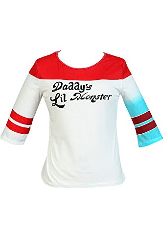Suicide Squad Harley Quinn T-shirt Cosplay Costume