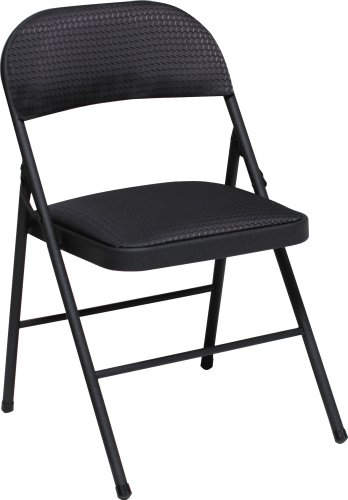 Cosco Fabric 4-Pack Folding Chair, Black (Padded Folding Table compare prices)