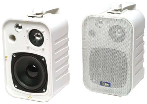 Tic Ticasp25W 5-Inch 25-Watt 3-Way Outdoor Patio Speakers - White