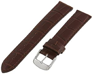Hadley-Roma Men's MSM898RB-200 20-mm Brown Alligator Grain Leather Watch Strap