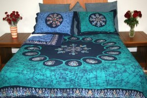 "Homestead Bedroom Set ~ 100% Cotton ~ Duvets & Pillow Cases Available (Pillow Case (28"" X 24""), Multi Batik)"