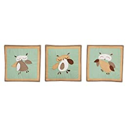 Product Image Tadpoles Set of 3 Wall Hangings - Owls