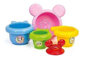 Clementoni Mickey Mouse - Recipientes de plástico apilables, color azul