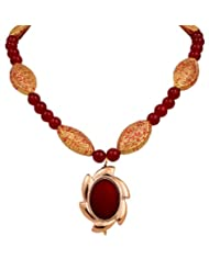 Sharnam Art Stunning Red Necklace For All The Fun Loving Girls For Women - Pt_807