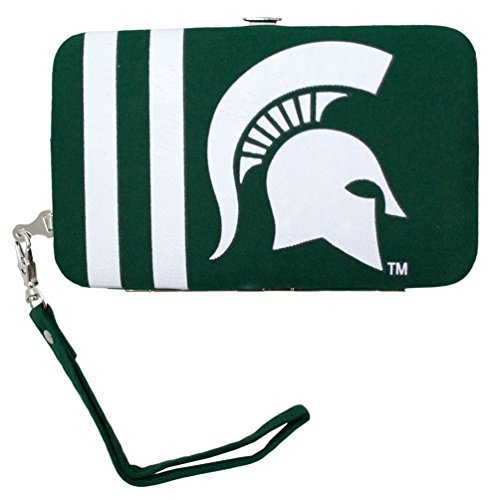ncaa-michigan-state-spartans-shell-wristlet-35-x-05-x-6-inch-green-by-littlearth