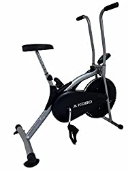 Kobo Air Bike Delux Exercise Cycle Dual Action / Electronic Meter (Ab-1 (ilver)