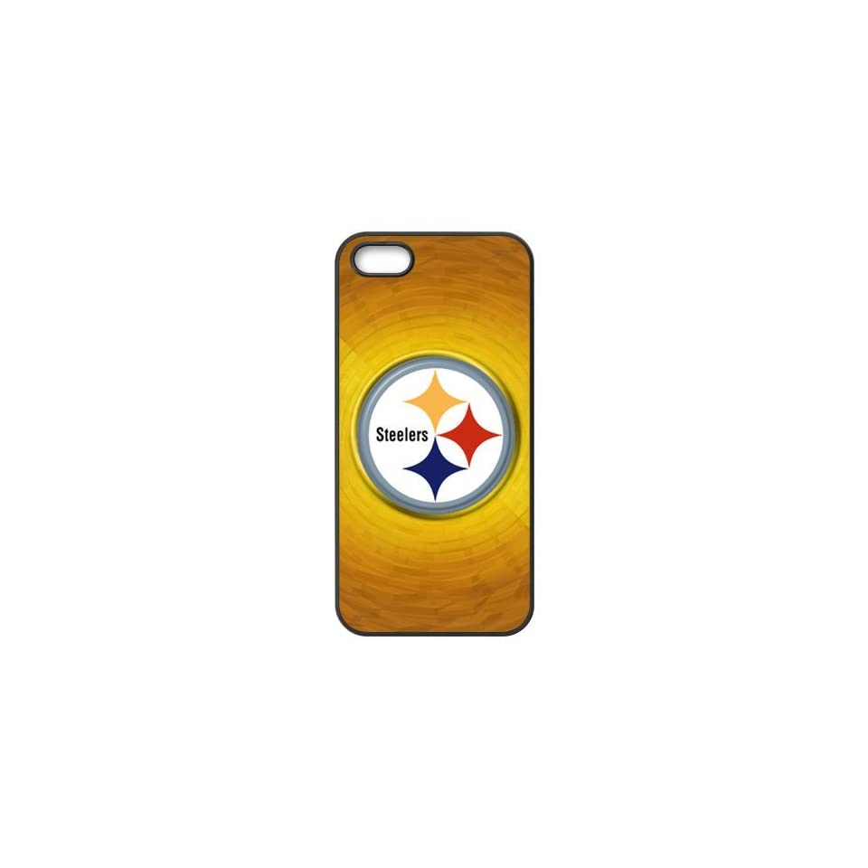 Apple iphone 5/5s case NFL Pittsburgh Steelers Pattern soft rubber Durable ultrathin Seamless cover by Distinctive Design Studio Cell Phones & Accessories