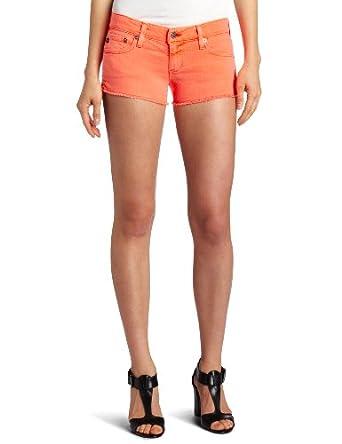 AG Adriano Goldschmied Women's Daisy Cut-Off Short, Neon Orange, 31