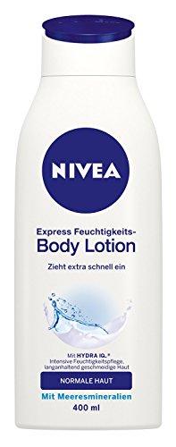 Nivea, Crema fluida idratante Express, 3 pz. da 400 ml