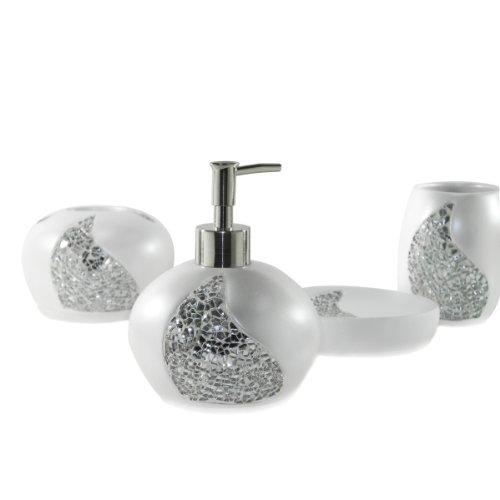 Dream Bath Magical Bling Bath Ensemble 4 Piece Bathroom Accessories Set Home