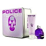 POLICE TO BE FOR WOMAN 75ML EAU DE PARFUM SPRAY+100ML BODY LOTION - 1 SET