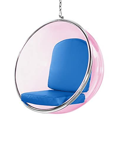 Manhattan Living Pink Bubble Hanging Chair, Blue